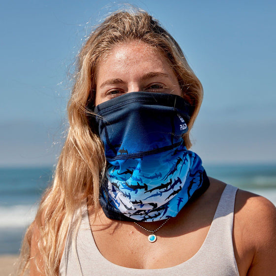 PADI Hammerhead Shark Recycled Plastic Face Mask / Sun Shield + 2 Filters