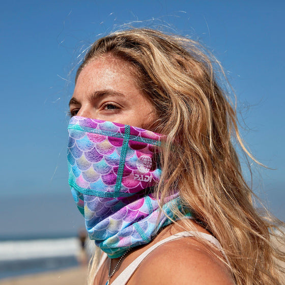 PADI Mermaid Recycled Plastic Face Mask / Sun Shield + 2 Filters