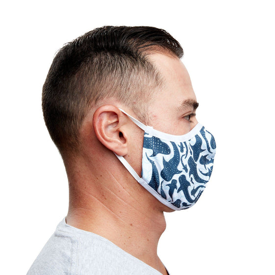 Mask - Whale Sharks Recycled Plastic Cloth Face Mask + 5 Filters