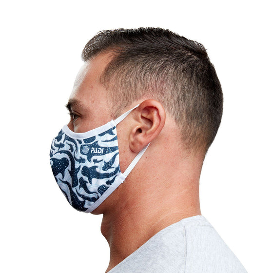 Whale Shark Recycled Plastic Face Mask with Filter Pocket + 5 Filters | Reusable, Washable, Eco-Friendly