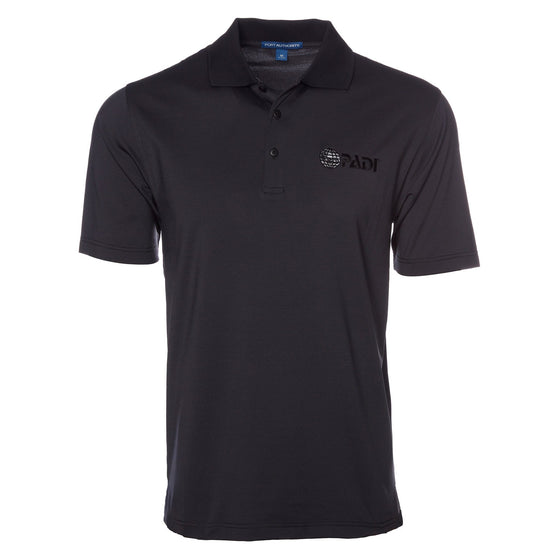 Polo - Fine Stripe PADI Globe Polo - Graphite/Black