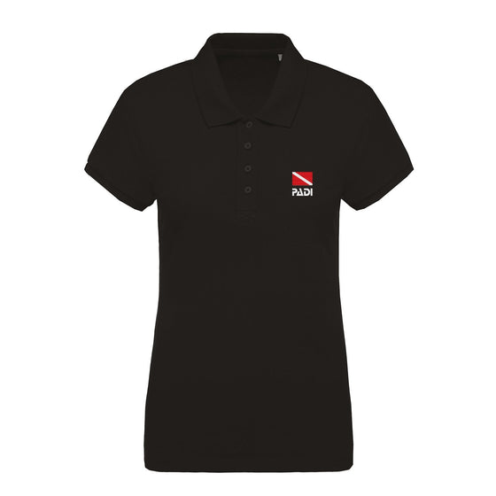 Polo - Women's Classic Dive Flag Eco-Friendly Polo - Black