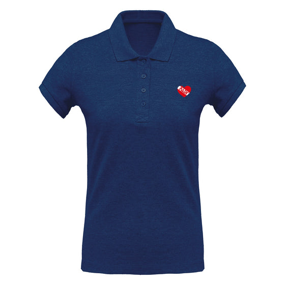 Polo - Womens Heart Dive Flag Polo