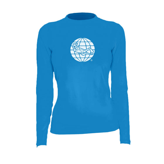 Rash Guard - PADI Globe Women's Rashguard – Electric Blue
