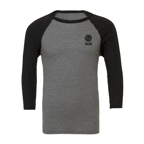 T-Shirt - Men's Baseball Tee - Dark Heather Grey / Black