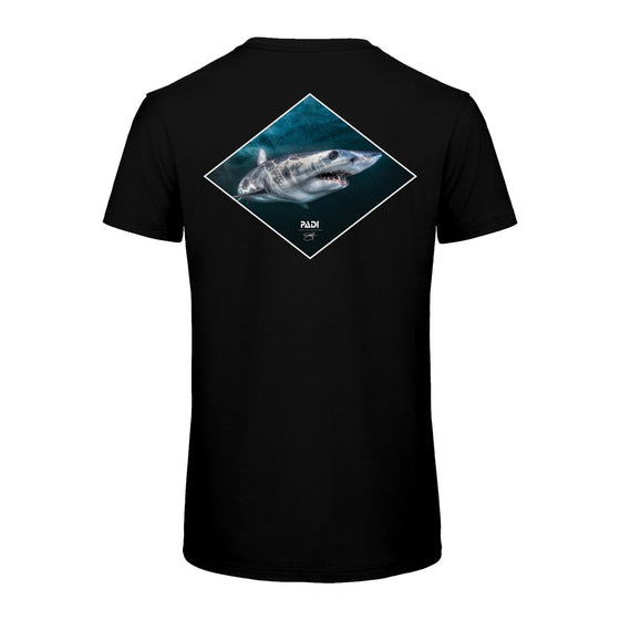 T-Shirt - PADI X Joe Romeiro Signature Collection Mako Shark Tee-Black