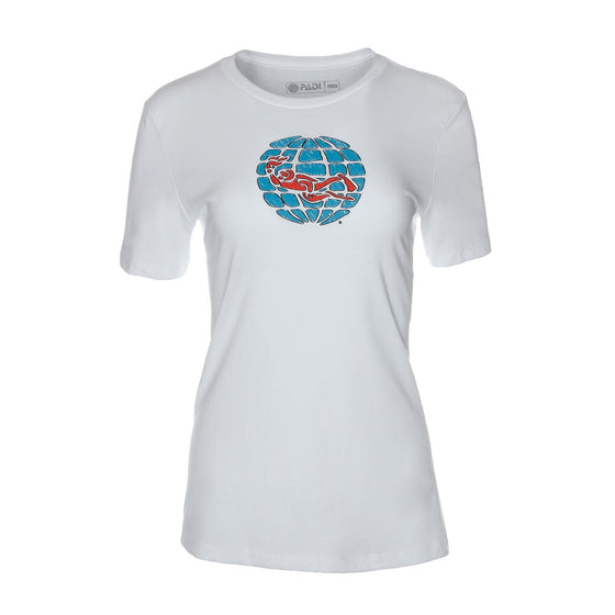T-Shirt - Scribble Globe Tee - White