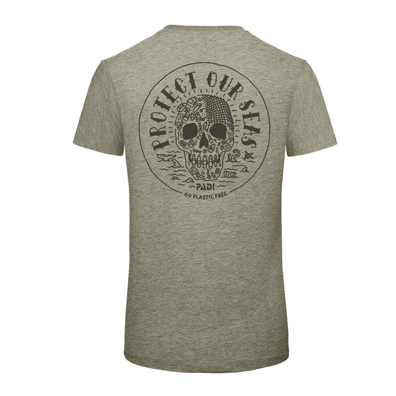 T-Shirt - Unisex Protect Our Seas Charity Tee - Heather Stone