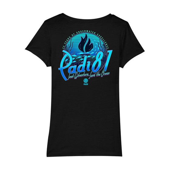 T-Shirt - Women's PADI Turns 25 Anniversary Retro Tee