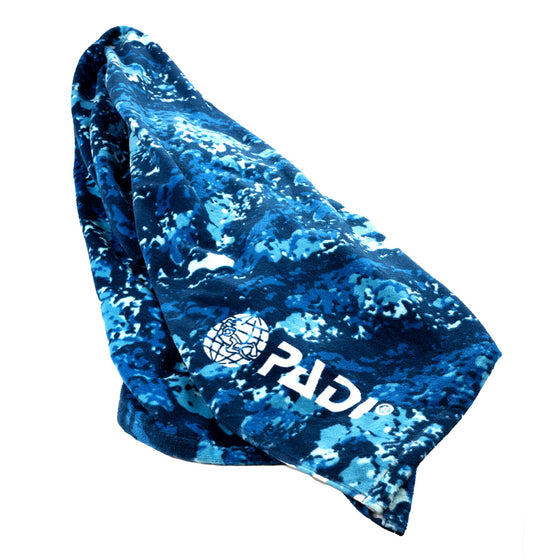 Towel - PADI X LEUS Ocean Blue Camo Eco-friendly Towel
