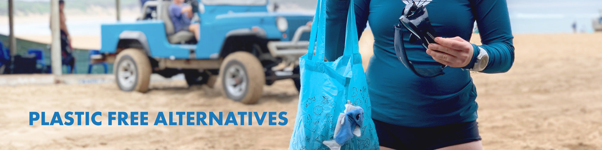 Plastic free alternatives collection page.
