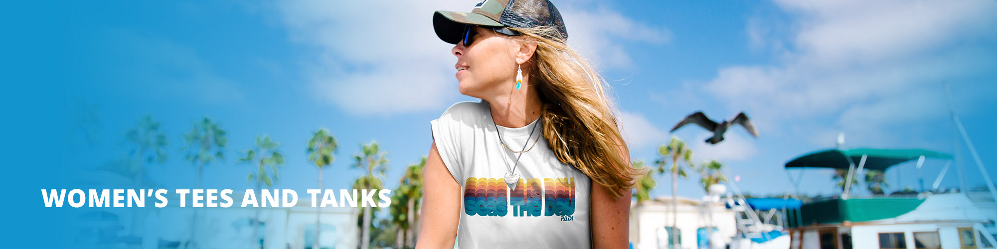 Women's t-shirts and tanks collection page.