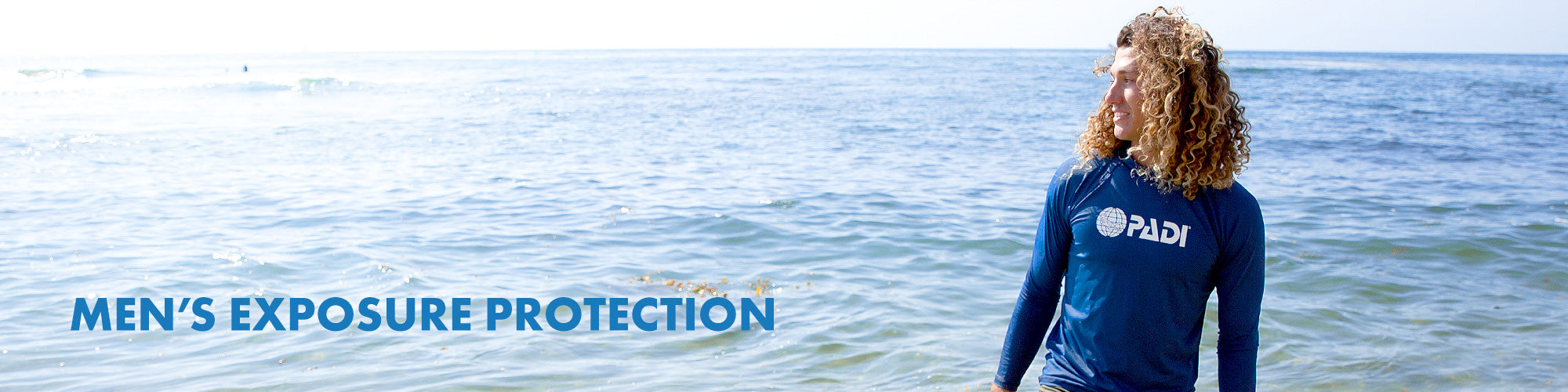 Men's exposure protection collection page.