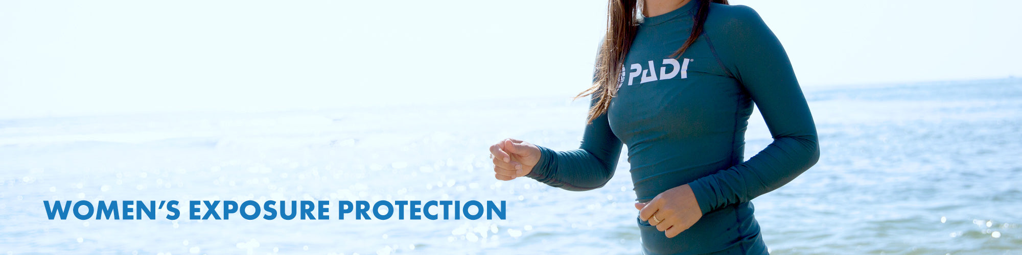 Women's exposure protection collection page.