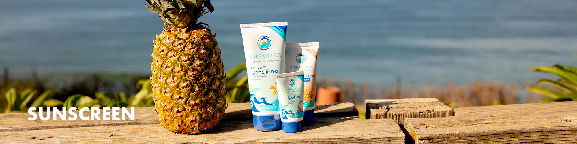 Sunscreen collection page.