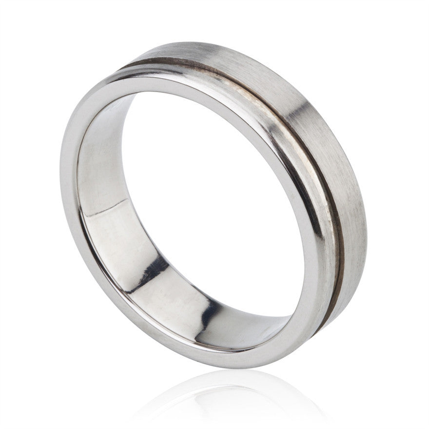 Titanium & Sterling Silver Gent's Ring