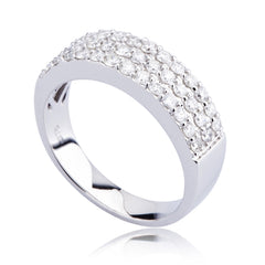 Diamond Three-row Band Ring