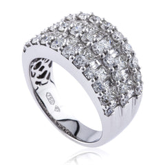 Round Brilliant, Princess and Baguette Cut Diamond Dress Band
