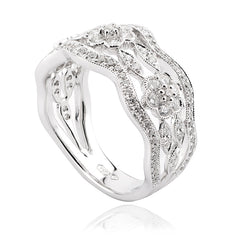 Diamond Open-work Floral Dress Band