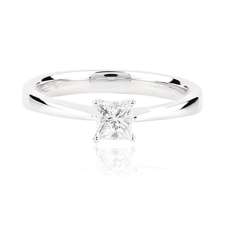 0.35ct Princess Cut Diamond Solitaire Ring