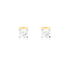 0.05ct Diamond Solitaire Stud Earrings
