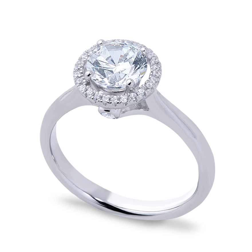 MADELINE SETTING - 1 CT PLAT