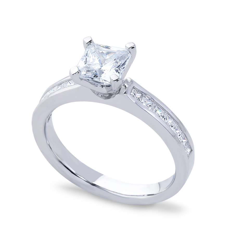 DANIELLA SETTING - 1 CT PLATINUM