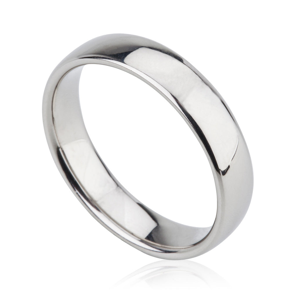 Palladium Band Ring 6mm Wide