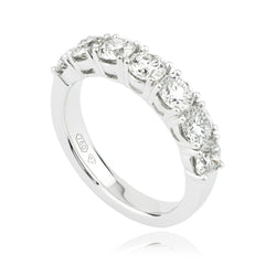 Round Brilliant Seven-diamond Band Ring