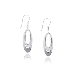 Angela Daniel Oval Drop Earrings