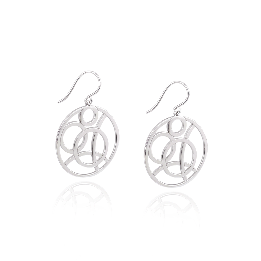 Angela Daniel Circle Earrings