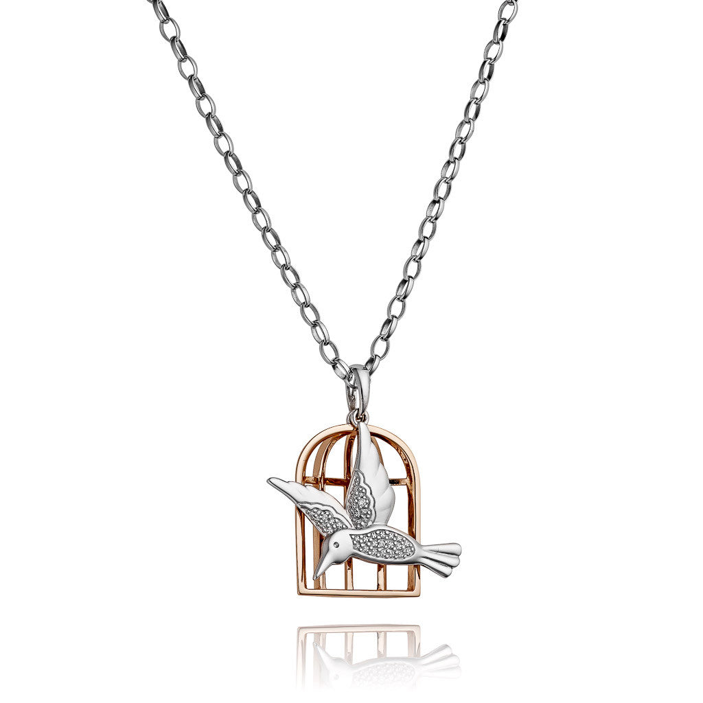 Angela Daniel Bird Cage Necklace