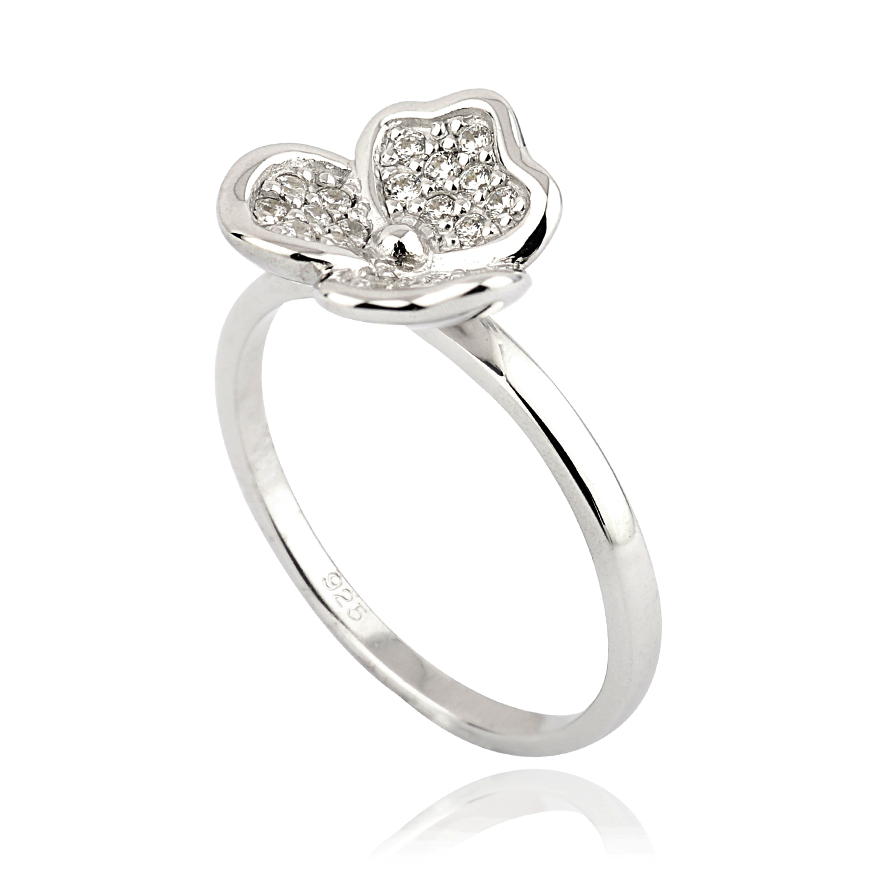 Angela Daniel CZ Flower Ring