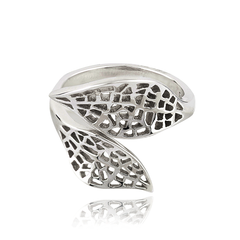 Angela Daniel Double Leaf Ring