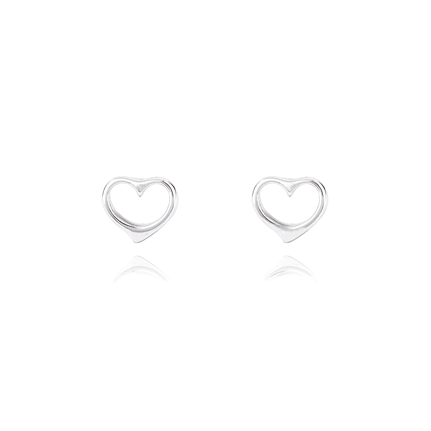 Angela Daniel Open Heart Studs