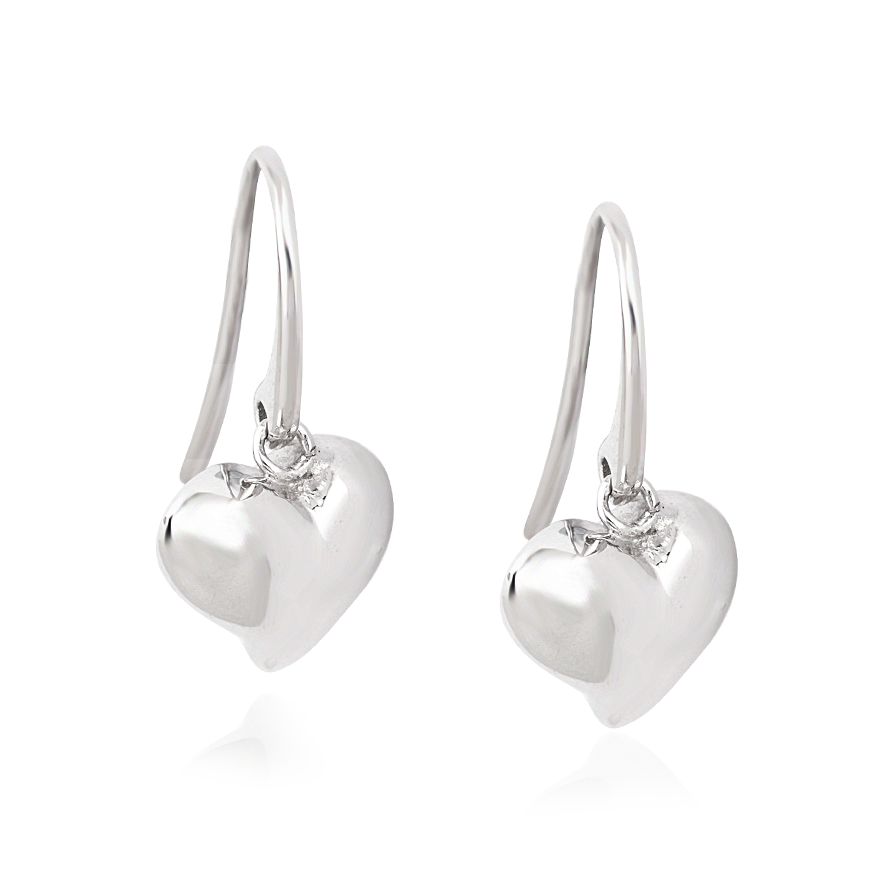 Angela Daniel Puff Heart Earrings