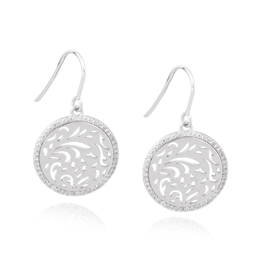 Angela Daniel Swirl Earrings