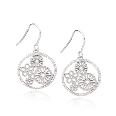 Angela Daniel Flower Earrings