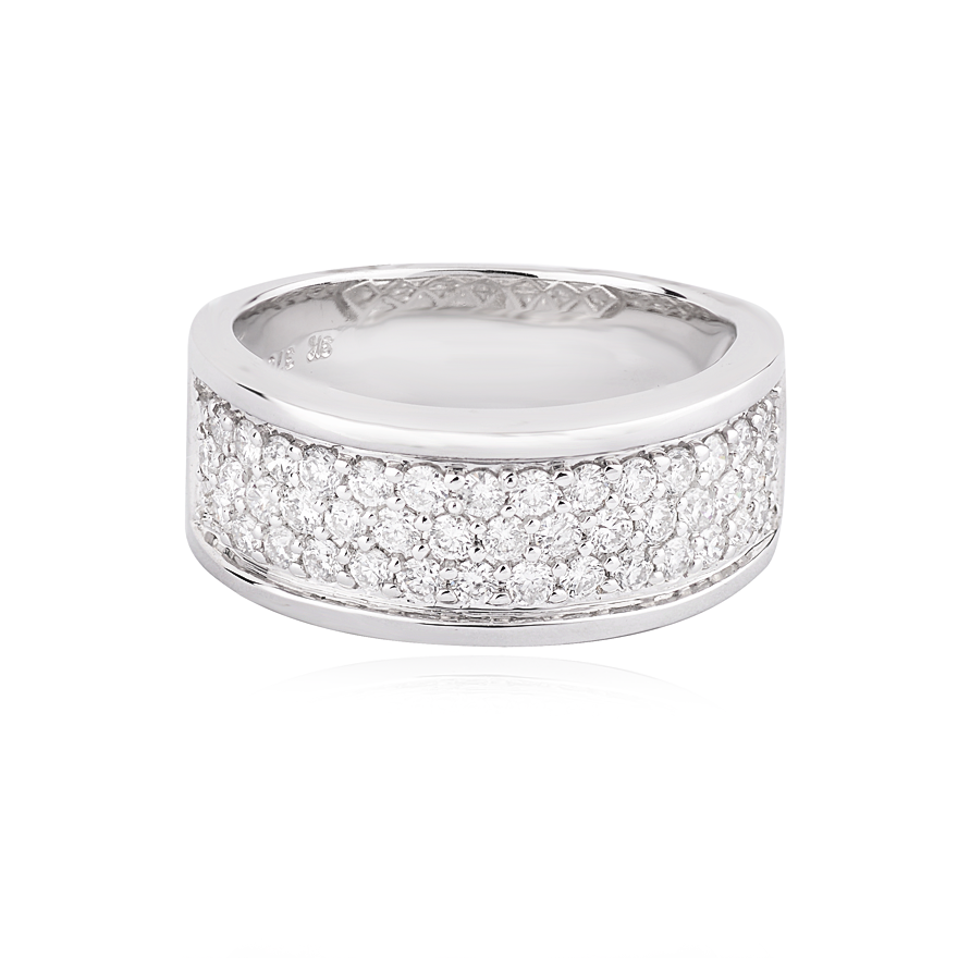 Pave Set Diamond Band