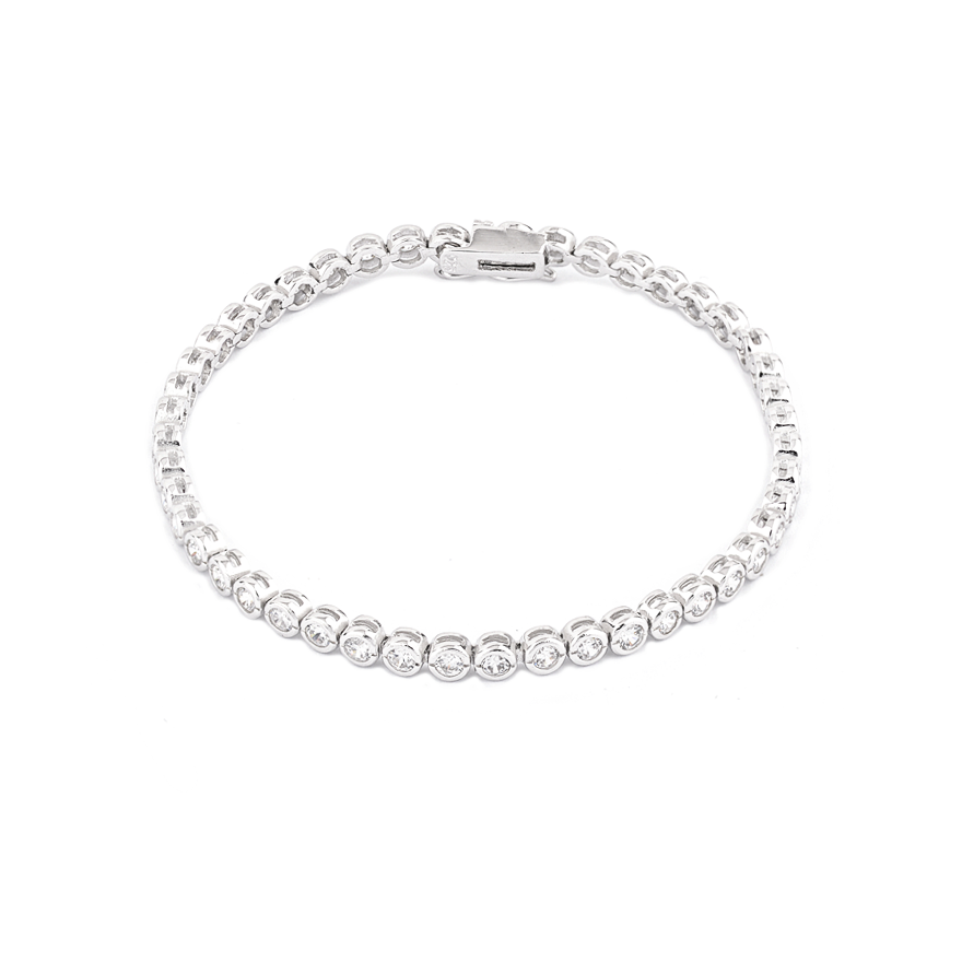 Rub Over Cubic Zirconia Bracelet