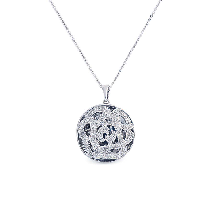 Rose Diamond Necklace