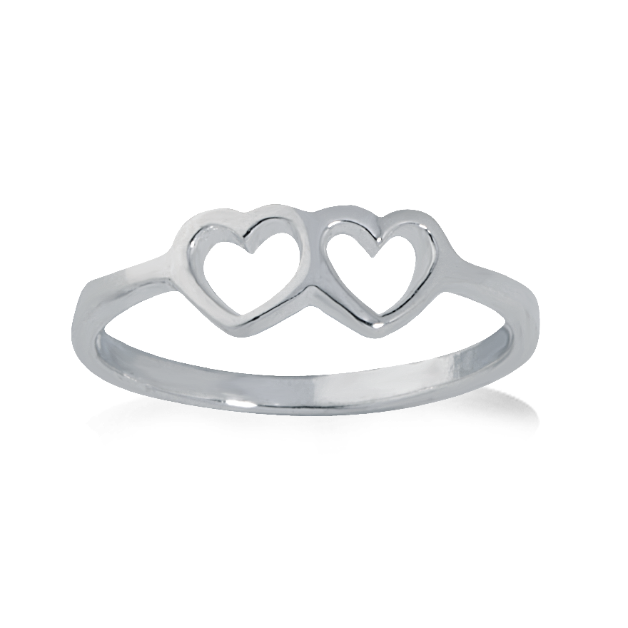 Angela Daniel Double Heart Ring