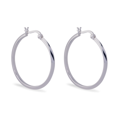 Angela Daniel Hoop Earrings - 30mm