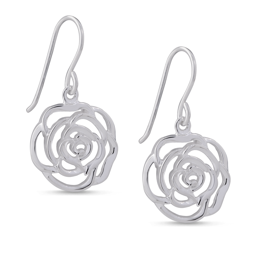Angela Daniel Rose Earrings