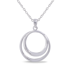 Angela Daniel Double Circle Pendant
