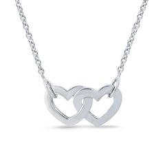 Angela Daniel Double Heart Necklace