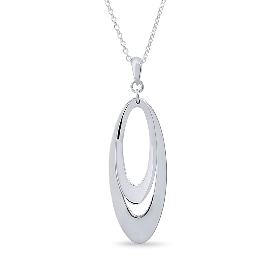Angela Daniel Double Oval Pendant