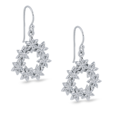 Angela Daniel Circle of Flowers Earrings