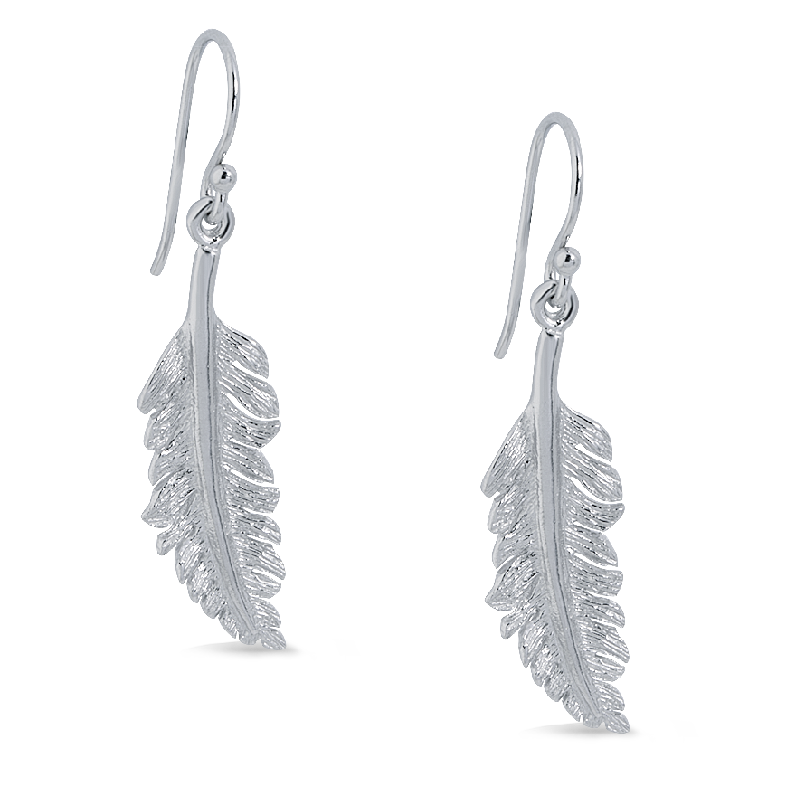 Angela Daniel Feather Earrings - Small