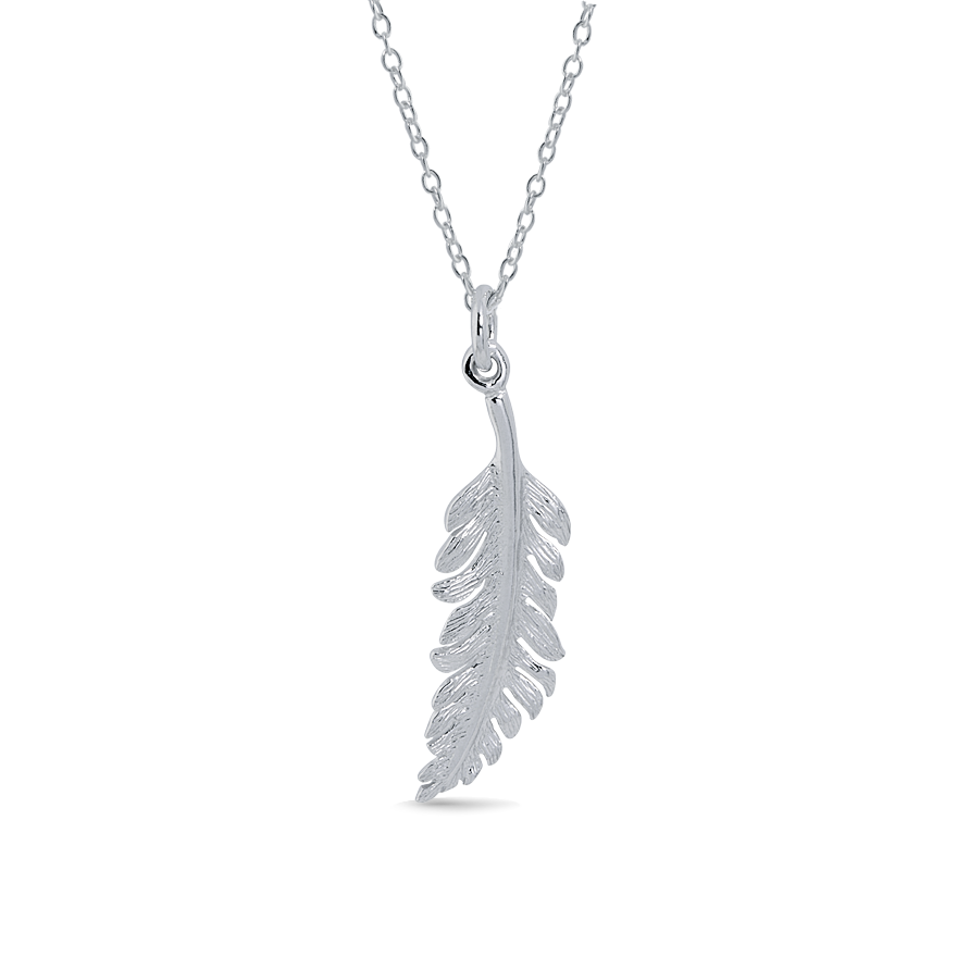 Angela Daniel Small Feather Pendant
